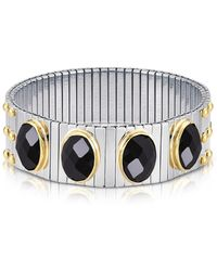 Nomination - Four Black Cubic Zirconia Stainless Steel W/golden Studs Women's Bracelet - Lyst