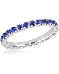 FORZIERI - Blue Sapphires 18k Gold Eternity Band - Lyst