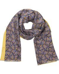 FORZIERI - Maxi Paisley Print Silk Reversible Men's Scarf - Lyst