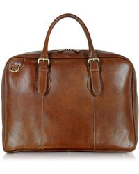 Chiarugi - Brown Double Handle Leather Briefcase - Lyst
