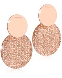 Rebecca - R-zero Rose Gold Over Bronze Drop Earrings - Lyst