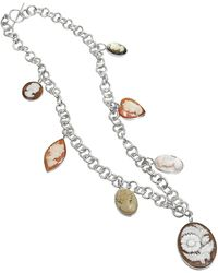 Mia & Beverly - Cameo Charm Necklace - Lyst