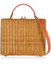 Rodo - Flat Leather And Wicker Midollina Tote Bag - Lyst