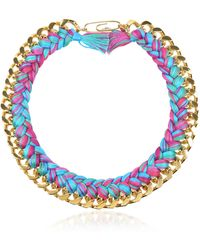 Aurelie Bidermann - Do Brasil Gold And Cotton Necklace - Lyst
