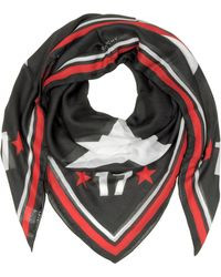 Givenchy - Black Modal And Cashmere 17 Print Wrap - Lyst