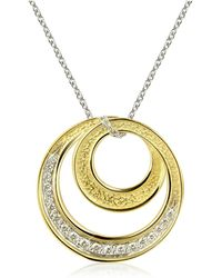 Torrini | Infinity 18k Yellow Gold Diamond Pendant Necklace | Lyst