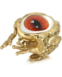 Bernard Delettrez - Bronze Frog Ring With Eye - Lyst