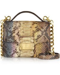 Ghibli - Brown Paillette Python Leather Crossbody Bag - Lyst
