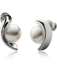 Skagen - Glass Pearls And Stainless Steel Agnethe Women's Earrings - Lyst