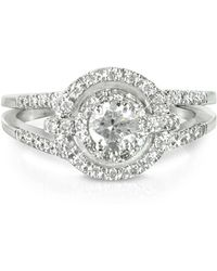 FORZIERI - 058 Ctw Diamond 18k White Gold Ring - Lyst