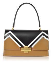 N°21 - Black And Camel Alice Shoulder Bag - Lyst