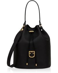 Furla - Corona M Drawstring Leather Bucket Bag - Lyst