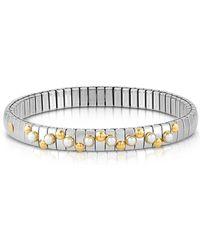 Nomination - Golden Stainless Steel Women's Bracelet W/white Opal Beads - Lyst