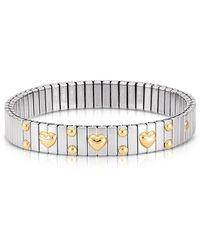 Nomination - Amore Stainless Steel W/golden Heatrs Women's Bracelet - Lyst