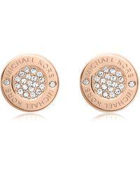 Michael Kors | Heritage Pave Stud Earrings | Lyst