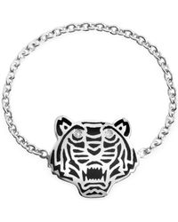 KENZO - Black Lacquer Sterling Silver Mini Tiger Ring - Lyst