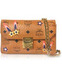 MCM - Millie Star Eyed Bunny Visetos Cognac Small Flap Crossbody Bag - Lyst