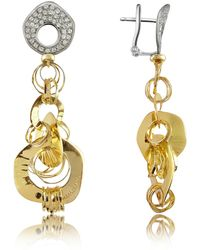 Orlando Orlandini - Fashion - Diamond 18k Two-tone Gold Drop Earrings - Lyst