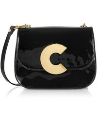 Coccinelle - Craquante Rock Medium Patent Leather Shoulder Bag - Lyst
