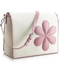 Pineider - Pink Flower Messenger Changing Bag - Lyst