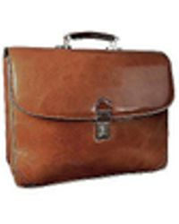 L.A.P.A. - Classic Sand Leather Briefcase - Lyst