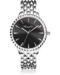 Thomas Sabo - Rebel At Heart Silver Stainless Steel Women's Watch W/black Dial - Lyst