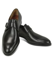 Fratelli Rossetti - Black Calf Leather Monk Strap Shoes - Lyst