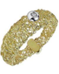 Orlando Orlandini - Arianna - 18k Gold Ring W/ Round Diamond - Lyst