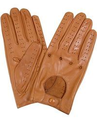FORZIERI - Men's Tan Italian Leather Driving Gloves - Lyst