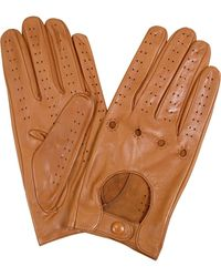 FORZIERI - Men's Tan Italian Leather Driving Gloves - Lyst
