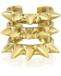 Bernard Delettrez - Triple Band Bronze Ring W/spikes - Lyst