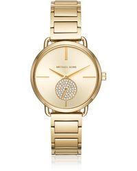 Michael Kors - Portia Gold Tone Women's Watch - Lyst