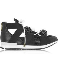 Vionnet - Leather And Elaphè Pon Pon Trainers - Lyst