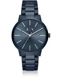 Emporio Armani - Cayde Blue Minimalist Men's Watch - Lyst