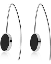 Skagen - Ellen Onyx Hook Earrings - Lyst