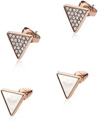 Emporio Armani | Signature Rose Goldtone Triangle Earrings | Lyst