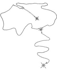FEDERICA TOSI - Lace Back Stars Necklace - Lyst