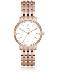 DKNY - Dress Case Rose Gold Watch - Lyst