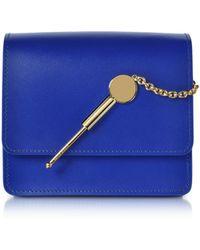 Sophie Hulme - Women's Blue Leather Shoulder Bag - Lyst