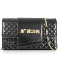 83998afa255 Love Moschino Clutch Bag With Coin Purse in Black - Lyst