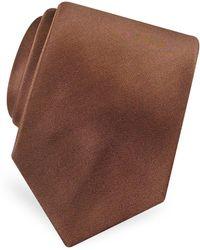FORZIERI - Solid Pure Silk Satin Silk Tie - Lyst