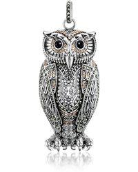 Thomas Sabo - Rebel Icon Sterling Silver Owl Pendant W/cubic Zirconia - Lyst