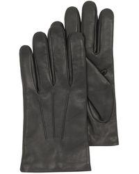 FORZIERI - Herren-Handschuhe aus schwarzem Leder mit Wollfutter - Lyst