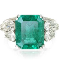 FORZIERI - Emerald And Diamond White Gold Ring - Lyst