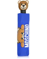 Moschino - Hidden Teddy Bear Blue Umbrella - Lyst