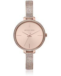 Michael Kors - Jaryn Pavé Rose Gold Tone Women's Watch - Lyst