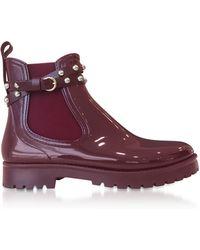 RED Valentino - Wine Studded Rainboots - Lyst