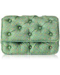 Benedetta Bruzziches - Frogs Printed Green Satin Silk Carmen Shoulder Bag - Lyst