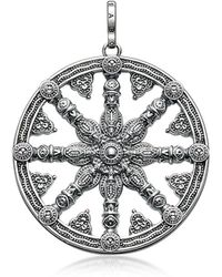 Thomas Sabo - Blackened Sterling Silver Pendant W/ Signature Eyelet - Lyst