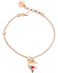 Azhar - Rose Sterling Silver And Enamel Small Spinning Top Charm Bracelet W/cubic Zirconia - Lyst